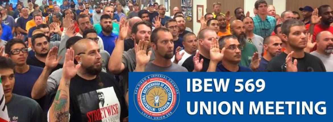 IBEW569 Meeting _ Swear In